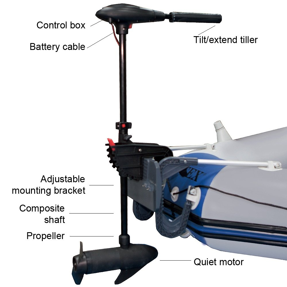 Intex Trolling Motor For Inflatable Boats 36 Mdc300120151 Brushless Speed Controllers 1hp And Over Shaft Electric Motors Sports Outdoors