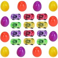 NUOBESTY Easter Egg with Toy Cars, Easter Eggs Toys Easter Hunt Party Bag Stuffer Giveaways 12 Set