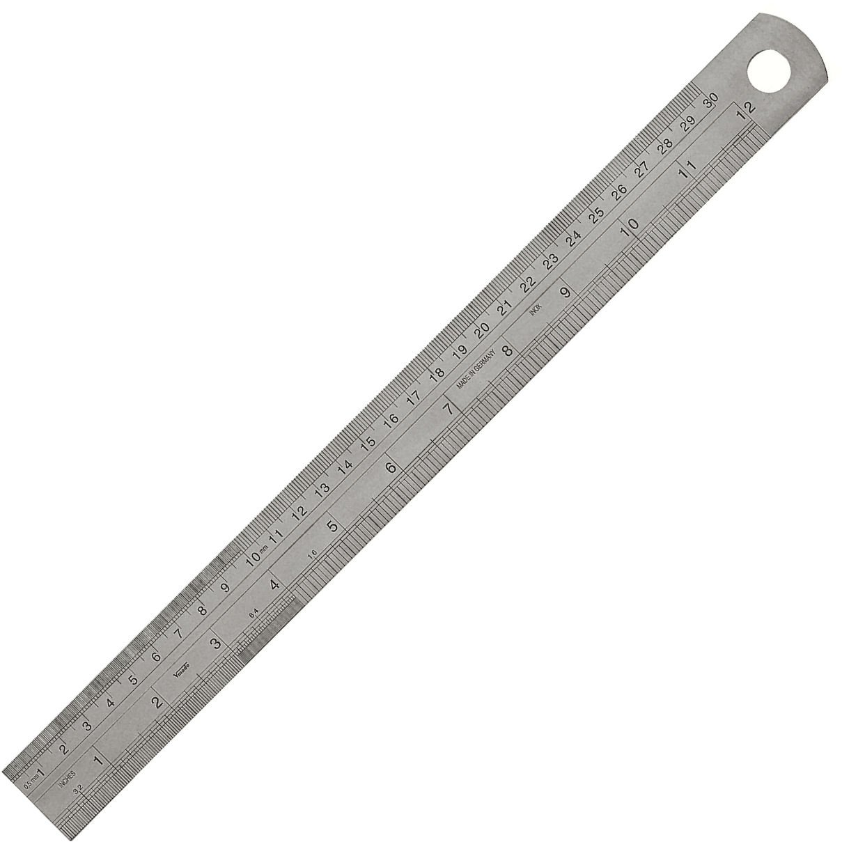 Rostfreier Stahlmassstab 1000 x 30 x 1,0 mm inch-Teilung