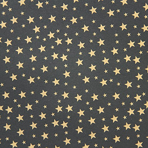 American Crafts DCWV 12'' x 12'' Loose Printed Paper - Gold Stag Star Design -25 Sheets by American Crafts