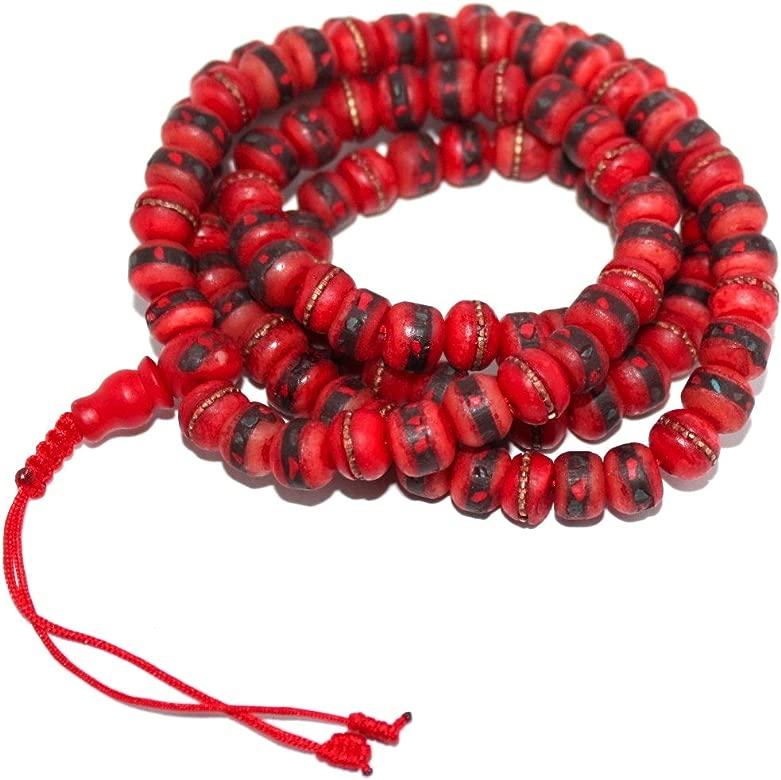 Boho collar cuentas de oración Tíbet tibetano Mala para ...