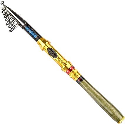 US Superhard Carbon Fiber Telescopic Fishing Rod Reel Sea Travel Spinning Pole