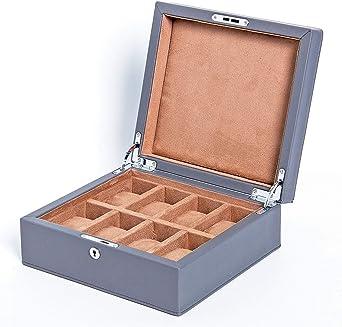 Estuche para Relojes, Caja para Reloj 8 Compartimentos, Organizador De Relojes para Guardar Joyerías Soporte De Exhibición De Relojes Pulsera PU (Color : A): Amazon.es: Relojes