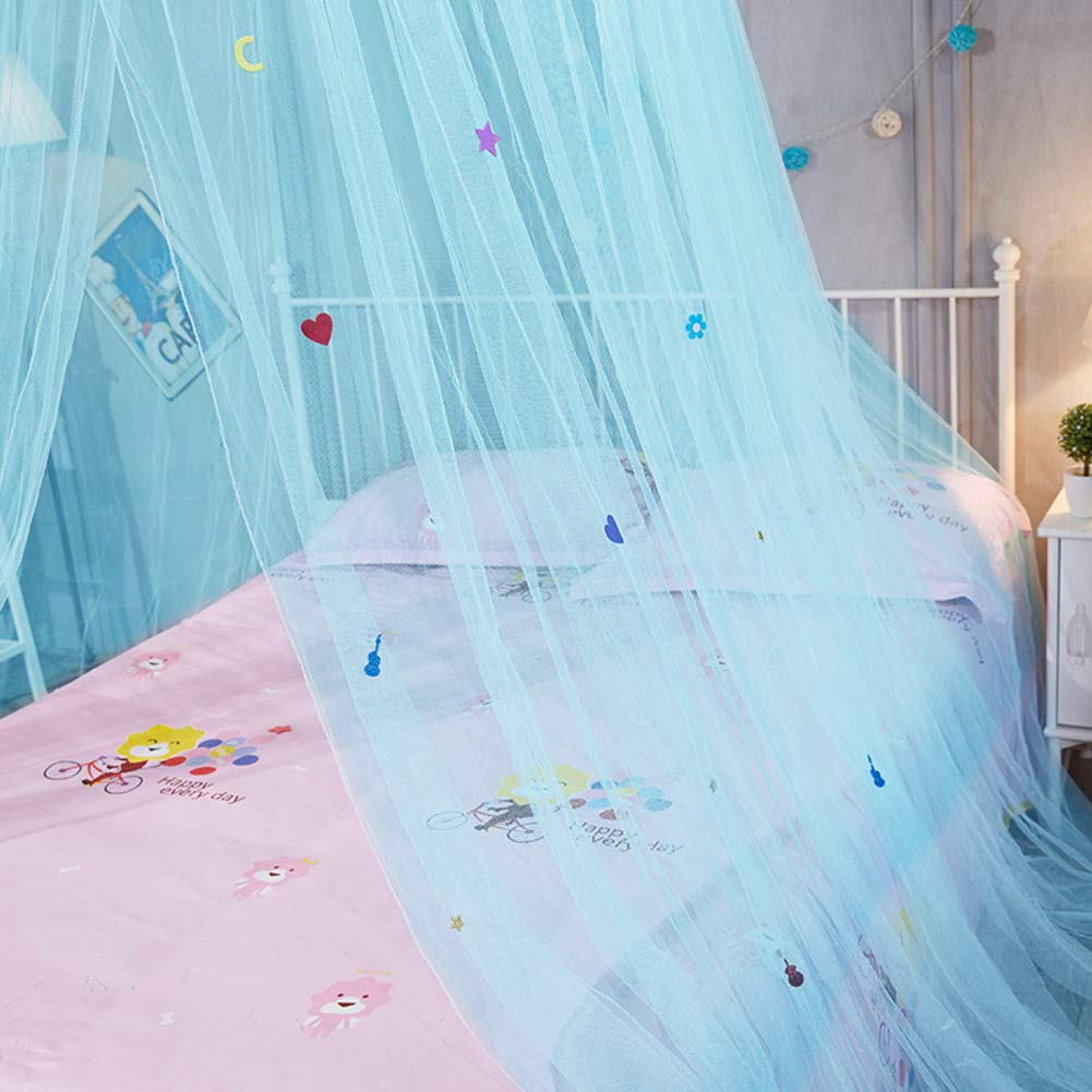 KE & LE Tent Mesh Canopy Curtains with Bottom, Princess Gauze Mosquito Net for Bbaby Indoor Outdoor Play Reading Tent Mesh Canopy Curtains with Bottom Hanging Mosquito Net-a by KE & LE (Image #4)