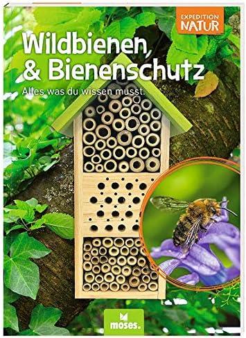 Nist- und /Überwinterungshilfe f/ür Wildbienen Bienenhotel Expedition Natur Mit spannendem Booklet f/ür Kinder moses