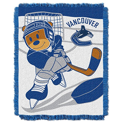 Vancouver Canucks Throw - The Northwest Company Officially Licensed NHL Vancouver Canucks Score Woven Jacquard Baby Throw Blanket, 36