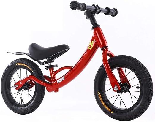YUMEIGE Bicicletas sin pedales Bicicleta Sin Pedales Marco De Aleación De Aluminio, Bicicleta de Equilibrio para niños Rueda Inflable De Goma, Bicicleta sin Pedales para niños y niñas Peso 3.4KG 2-8 A: