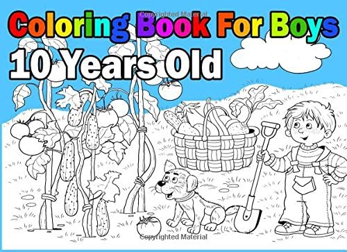 - Coloring Book For Boys 10 Years Old: Landscape Format, Coloring Book In:  9781981448869: Amazon.com: Books