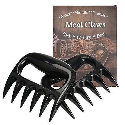2er Meat Claws Edelstahl Fleisch-Klauen Fleischgabeln mit Holzgriff  Barbecue
