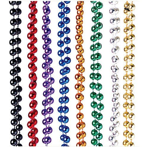 Assorted Metallic Beaded Necklaces Costume product image