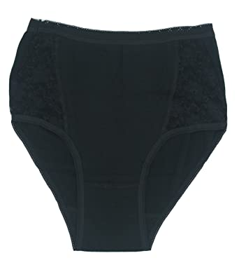 1cd6e1266476 LUXEHOME Women Lace Cotton Brief Underwear,6-Pack (XX-Large, Black): Amazon. co.uk: Clothing