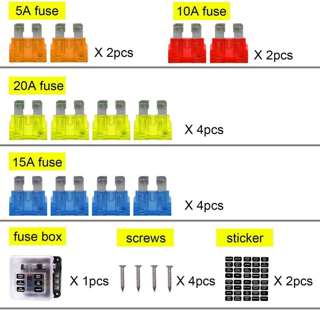 Baoblaze 1 x Sicherungskasten Sicherungskreis Sicherungsplatte Sicherungskasten Sicherungshalter