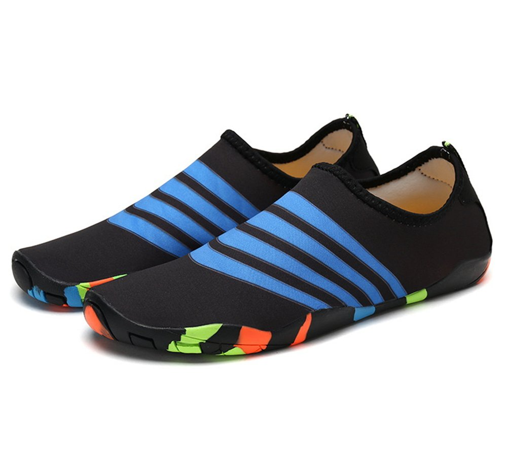 edv0d2v266 Kids Swim Water Shoes Barefoot Aqua Socks Shoes for Beach Pool Surfing Yoga(Black 33/1.5 M US Little Kid)