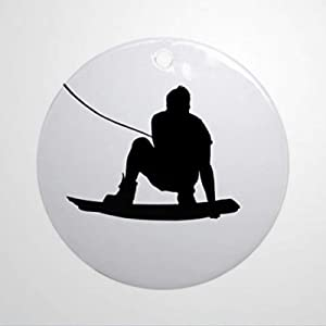 BYRON HOYLE Wakeboard Air Method Grab Ornament Round Round Holiday Christmas Ornaments Pandemic Xmas Decor Wedding Ornament Holiday Present