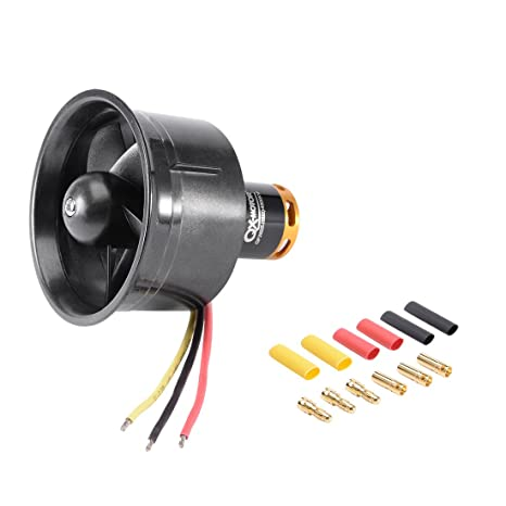 uxcell 64mm 5 Blades Ducted Fan EDF Jet Engine with 4300KV 3-4S RC  Brushless Motor for RC Airplane