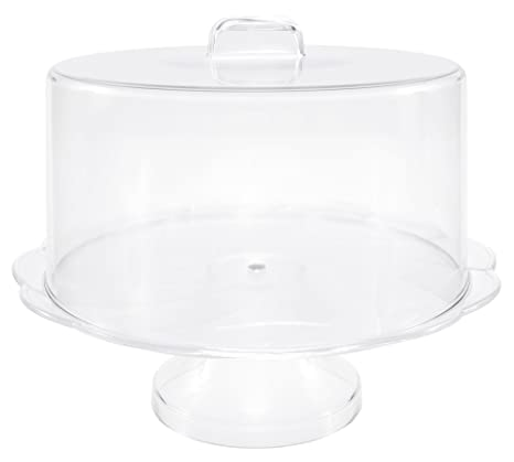 Lovely Amazon.com | Unbreakable Plastic Cake Stand with Cover, Cake Plate  WR98