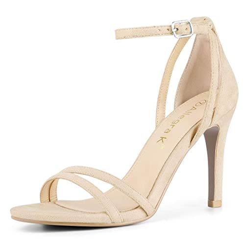 c6546e70394cb Allegra K Women's Ankle Strap Stiletto High Heel Sandals