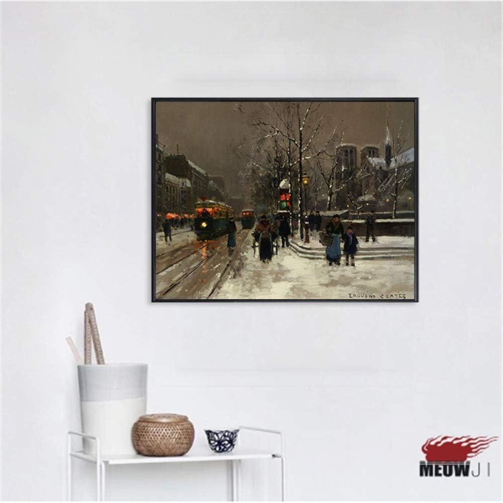 zlhcich Núcleo de Pintura Decorativa Notre Dame de Paris C 60X90: Amazon.es: Hogar