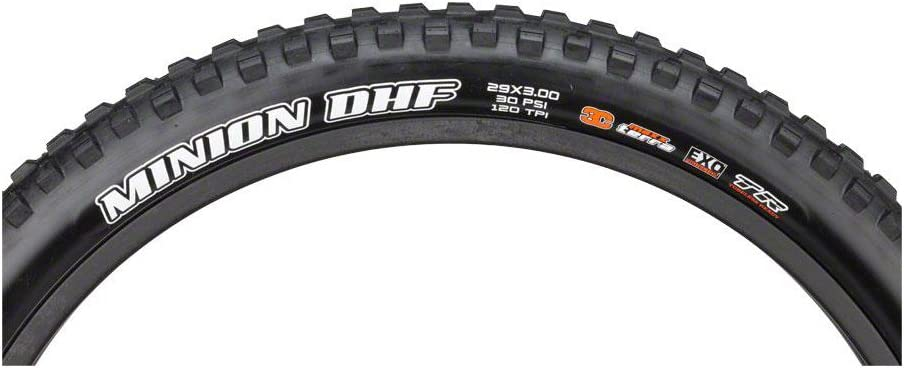 Folding Tubeless 120 TPI Maxxis Minion DHR II Tire 29 x 2.6 Black 3C