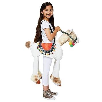 18a2b3039a34 Travis designs Girls Ride on Llama Fancy Dress Costume - One Size ...