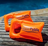 FloaterPaddle Inflatable Swim Hand Paddles for Swim Training, Floating, and Water