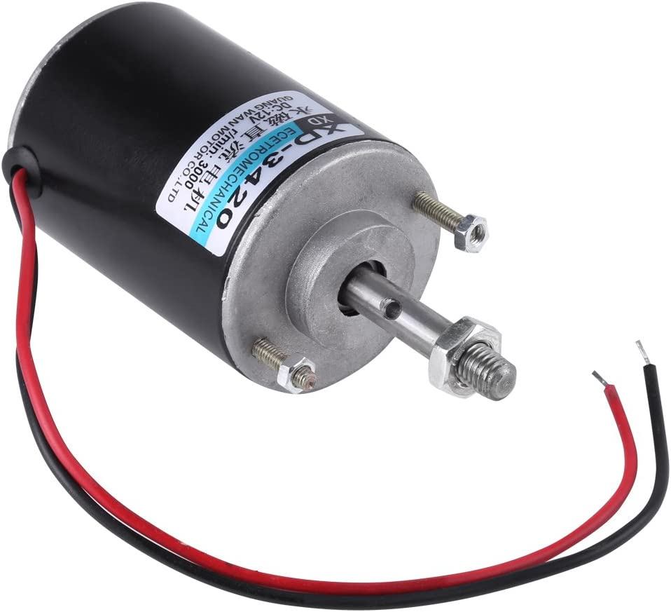 12/24V DC Motor 30W High Speed CW/CCW Permanent Magnet DC Motor for DIY Generator(DC 12V 3000RPM): Industrial & Scientific
