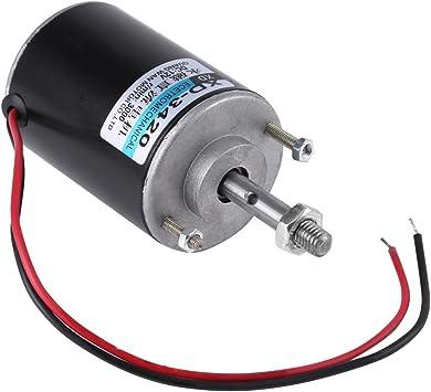 etc. 24V6000 m/áquina de pulir Banco de Corte Peque/ño Motor de Im/án Permanente CW//CCW de Alta Velocidad para M/áquina de Algod/ón de Az/úcar Motor El/éctrico de 12V // 24V DC