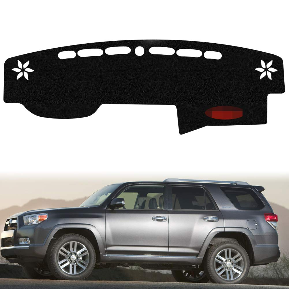PGONE Custom Fit Dashboard Black Center Console Cover Dash Mat Protector Sunshield Cover Pad Carpet for Toyota 4runner 4 Runner Accessories 2015 2016 2017 2018 2019