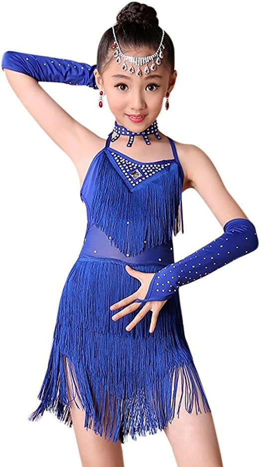 2018 New Latin Dress Girls Women Ballroom Dance Skirt Performance Costume