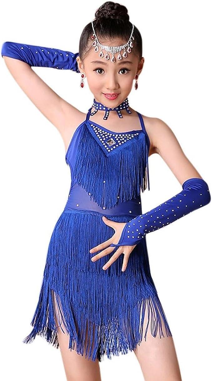 Amazon.com: Fineser Kids Little Girl Dance Costumes Tassel Dancing