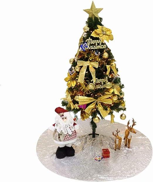 GFCC - Falda de Lentejuelas para árbol de Navidad, Redonda, para ...
