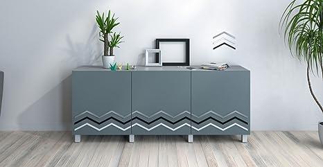 Credenza Ikea Grigia : Nylon credenza madia design grigio scuro arancione e