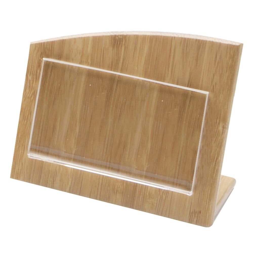 Business Card Holder Small Sign Holder Wooden - 4 1/2''L x 2 1/4''W x 3 3/4''H
