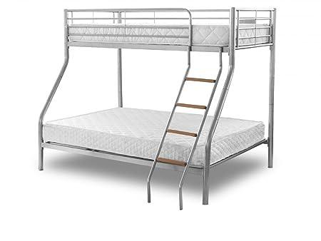 New Atlanta Childrens Metal Bunk Bed Frame Kids Triple 3 Sleeper