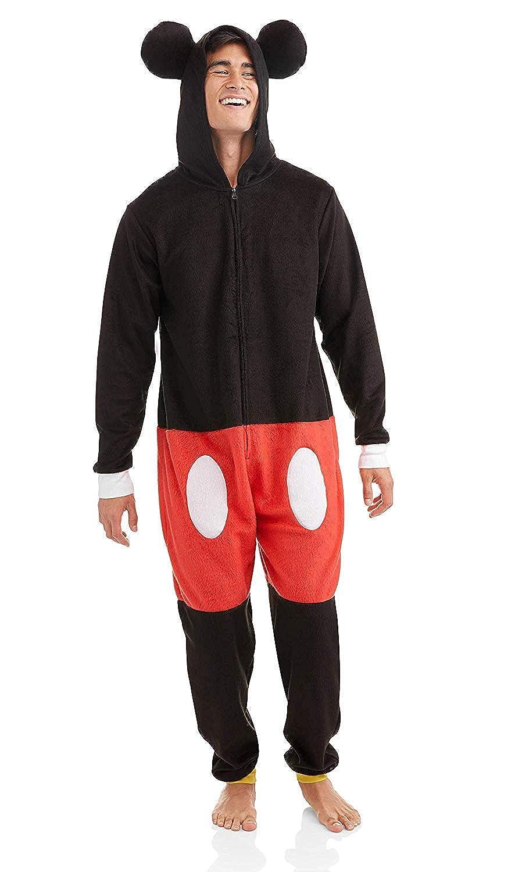 Disney Men's Mickey Mouse Cos Play One Piece Pajama Union Suit MF17035US