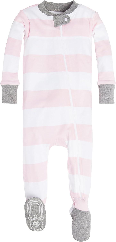 Organic Cotton Zip-Front Non-Slip Footed Sleeper Pjs Burts Bees Baby Baby Boys Pajamas