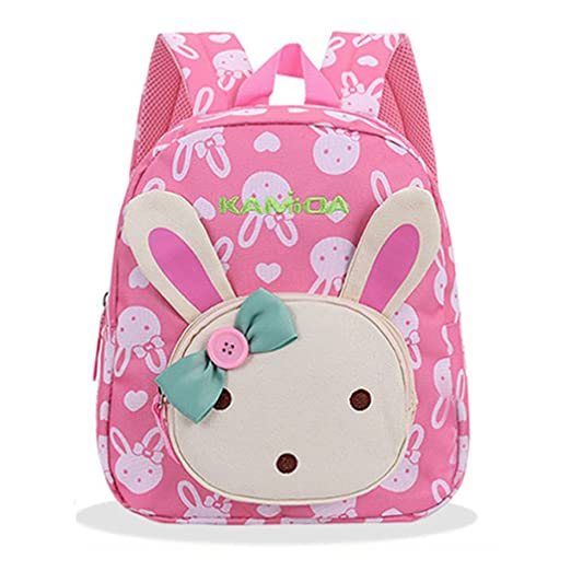 bafb52dace Image Unavailable. Image not available for. Color  Naerde Cute backpack  lovely backpack Book Backpack Rabbit Animals Kids Baby Girls School Bag Pink