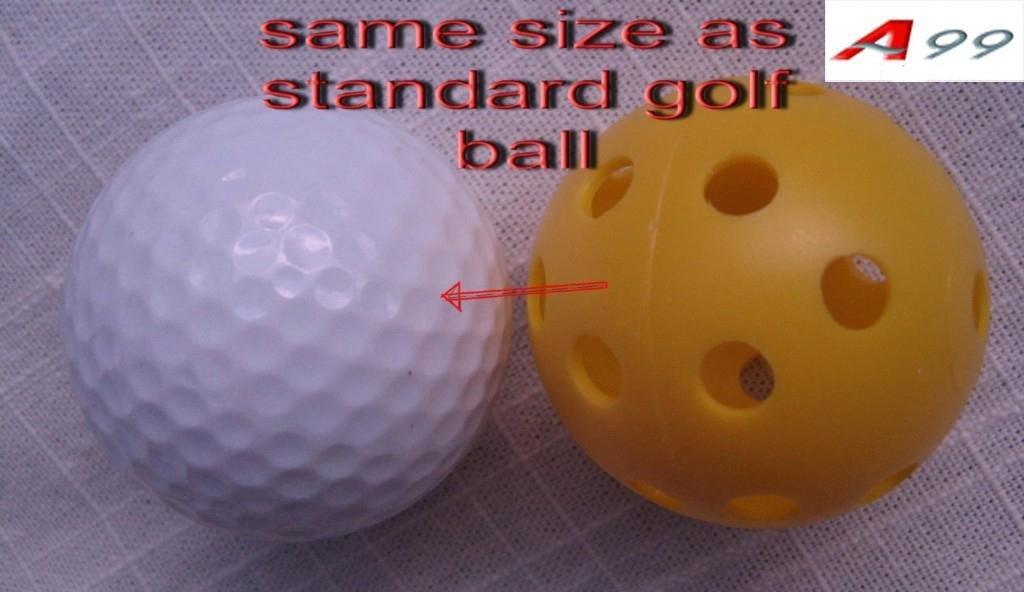 12pcs Golf practice air flow balls training aids Orange color