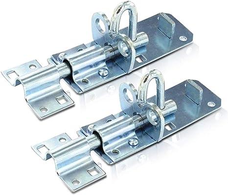 Cerrojo para puerta de cobertizo resistente 10 cm color negro o zinc