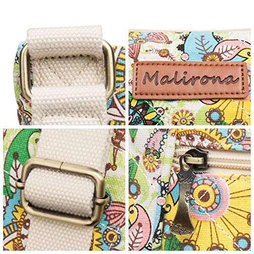 Malirona Women Crossbody Purse Hipster Cross Body Bag Canvas Shoulder Handbag Floral Design by Malirona (Image #4)