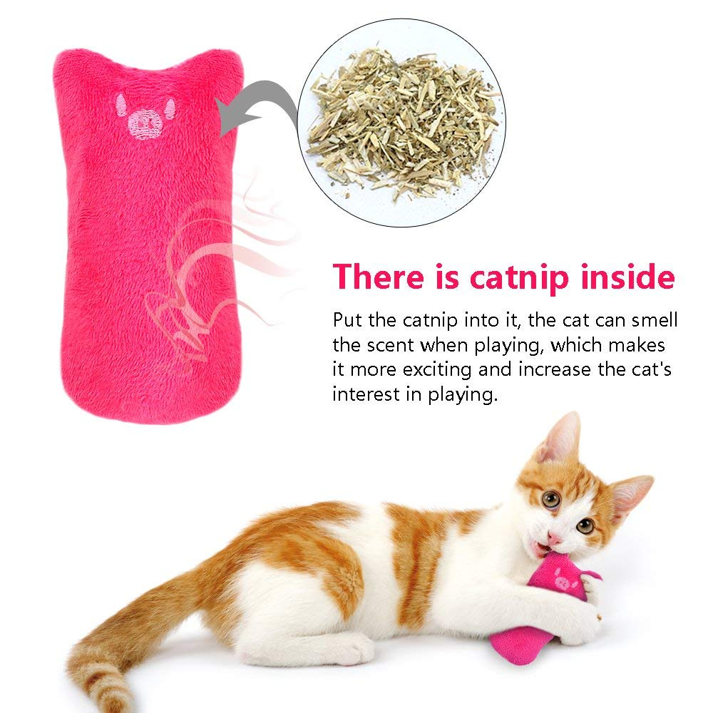 AINOLWAY Interactive Cat Catnip Toys Funny for Kitten Kitty Cat Kicker Teething Chew Playing 3 Pcs