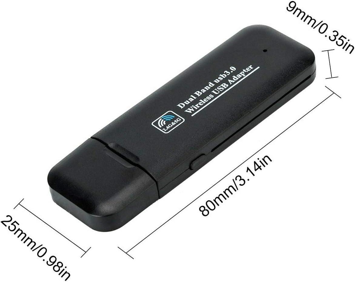 hongxinq AC 200Mbps USB WiFi Network Adapter Dual Band 5GHz//2.4GHz Wireless LAN Adapter
