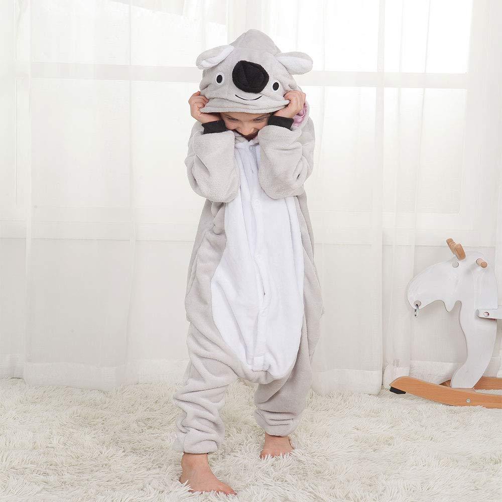 v/êtements de m/énage pour Enfants /âg/és de 3 /à 12 Ans Service de repr/ésentation des Animaux en Forme de Koala Pyjama Familial Pyjama en Une pi/èce de Bande dessin/ée Unisexe pour Enfants