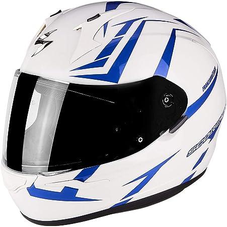 Caschi Moto EXO 390 Hawk Bianco Perla Blu Scorpion