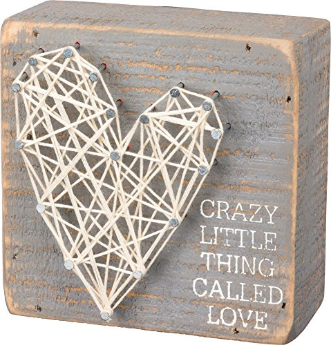 Primitives by Kathy String Art Box Sign, 4 x -