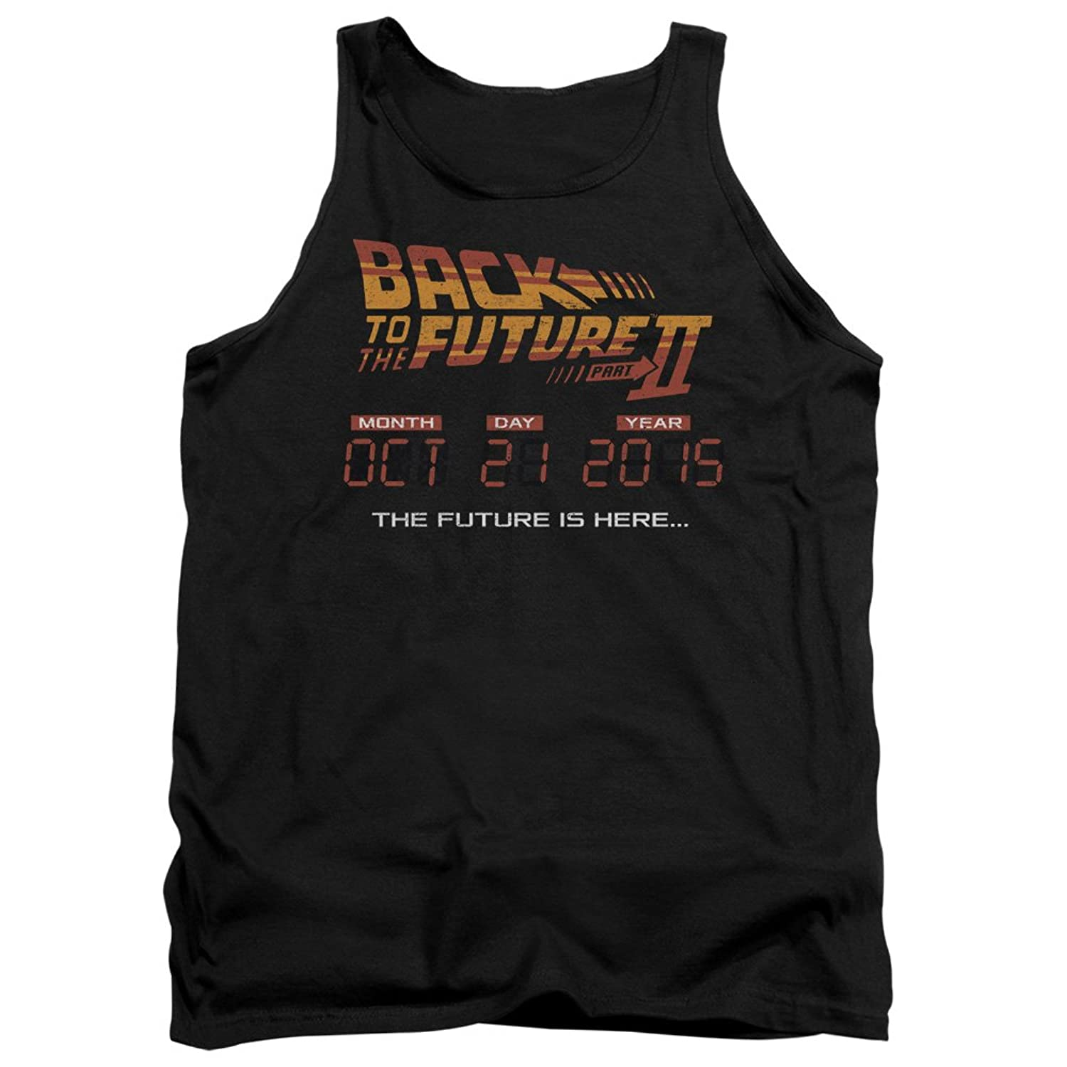 Back To The Future II Sci-Fi Movie Future Is Here 10.21.15 Adult Tank Top Shirt