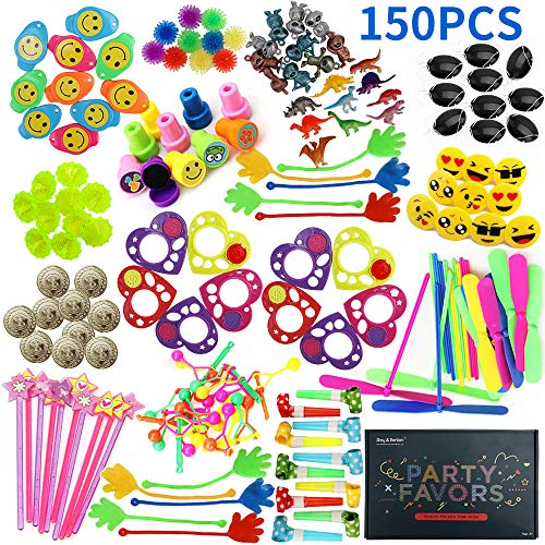 Amy&Benton Party Favor Toys for Kids Birthday 150 PCS Pinata Filler Toys Carnival Prizes for Boys and Girls Treasure Box / Chest Treat for Classroom (Treasure Box Child)