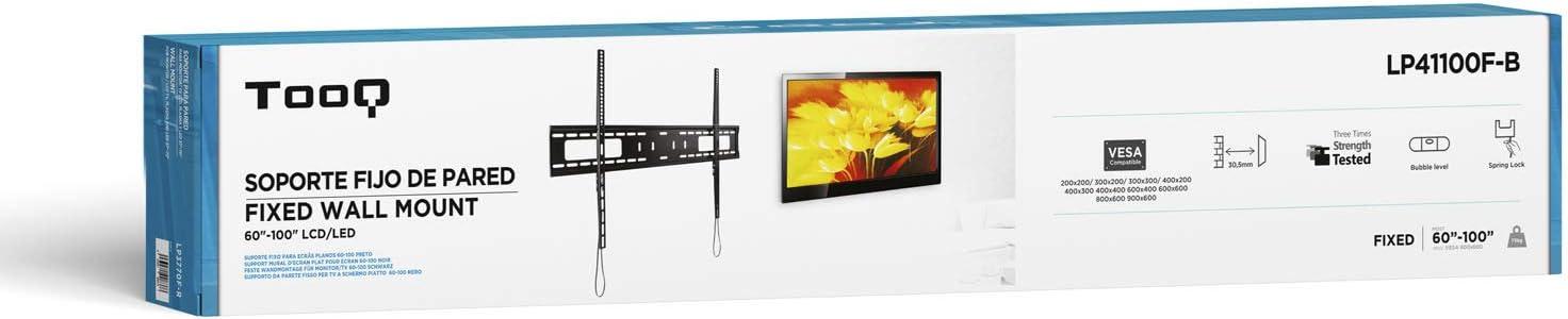TooQ LP41100F-B - Soporte Fijo de Pared para Monitor/TV/LED de 60