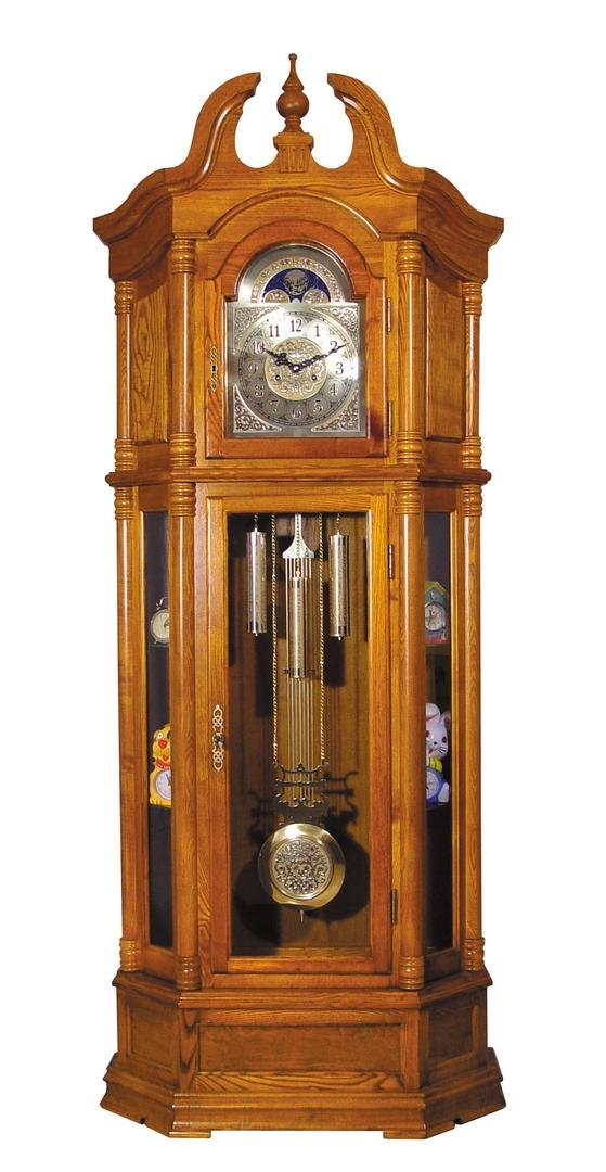 ACME 01410 Rissa Grandfather Clock, Oak Finish