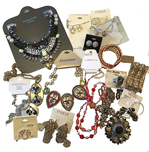Lot Jewelry - 50 pieces Wholesale Fashion Jewelry Lot assorted Name Brand mixed